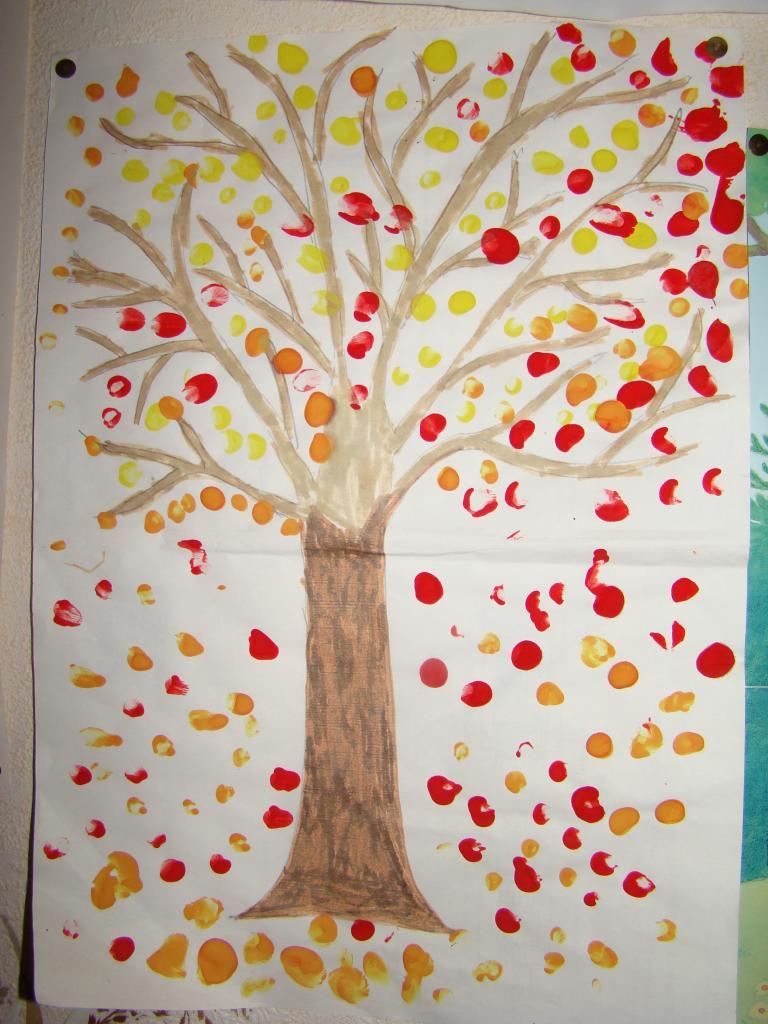 bricolage enfant arbre dautomne