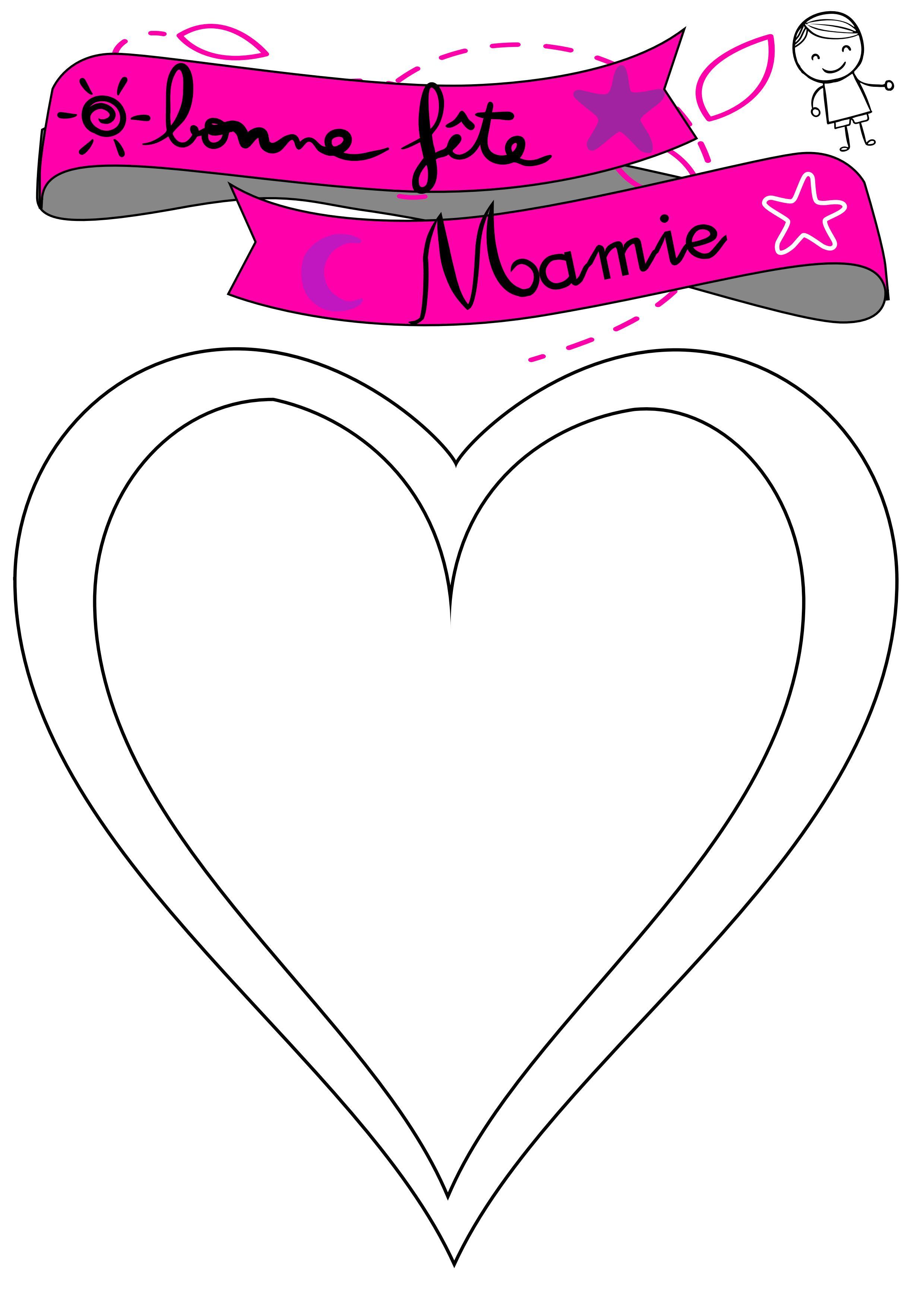 Coeur à Remplir Pour Mamie