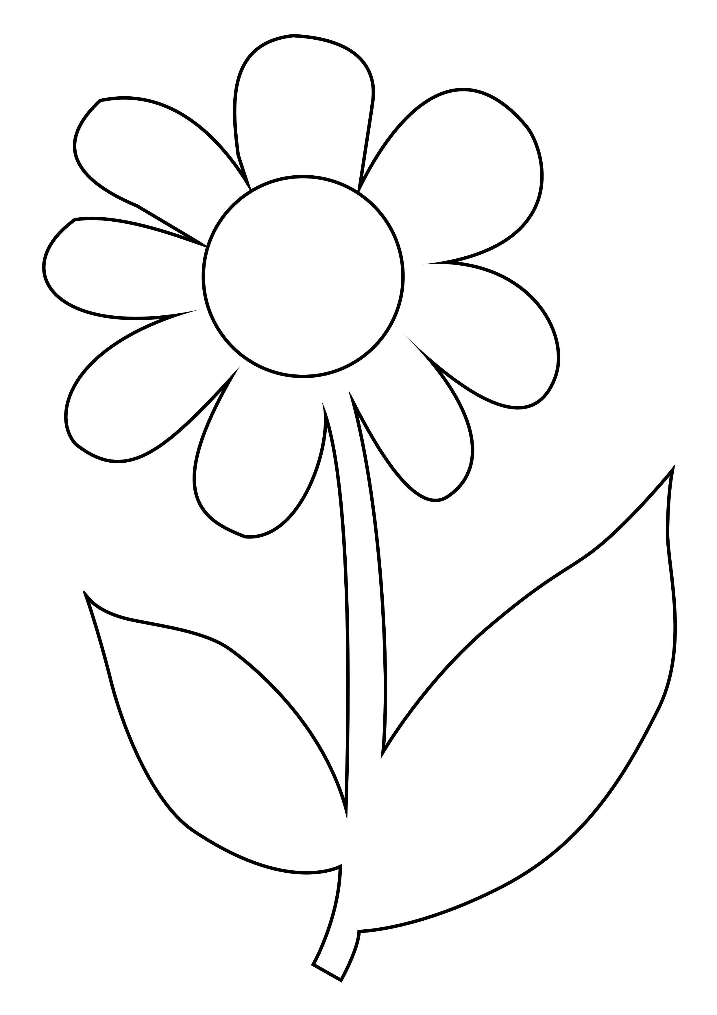 Coloriage fleur - Coloriage fleur 3 ans ...