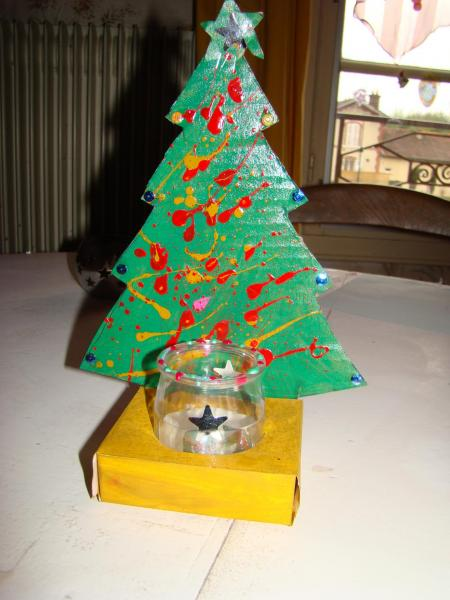 Photophore sapin - Photophore noel maternelle ...
